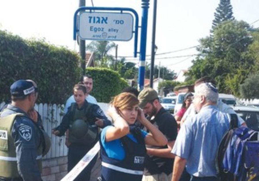 POLICE CORDON off Egoz Street in Sderot