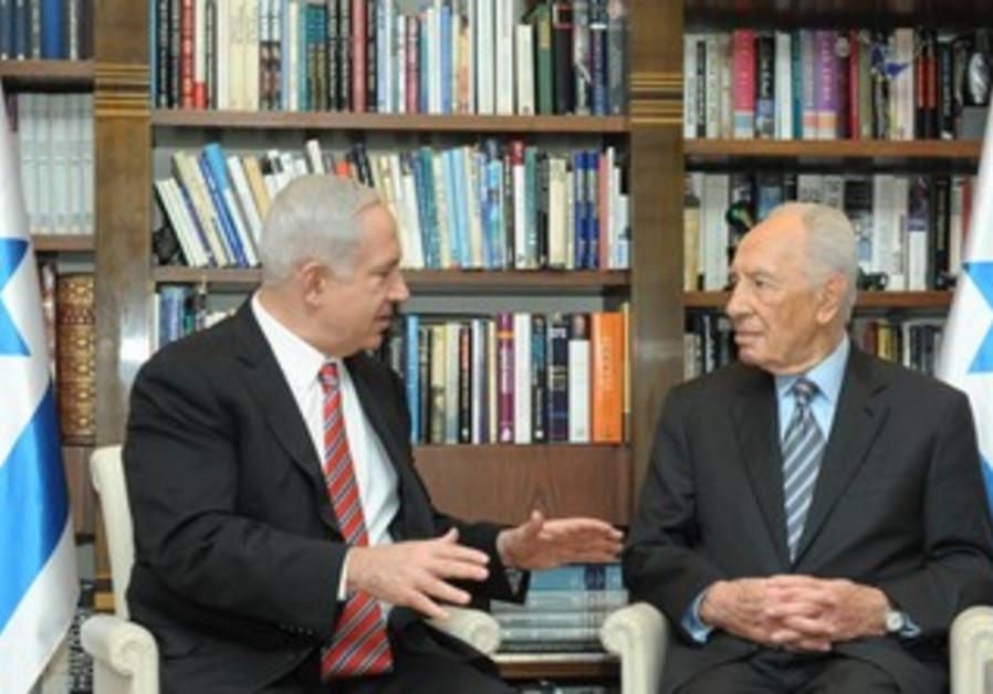 PM Netanyahu and President Peres [file]