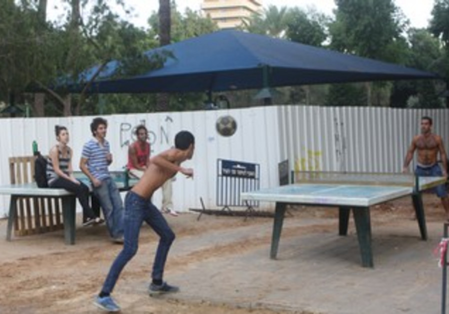 Tel Aviv after rockets fired at city on Friday.