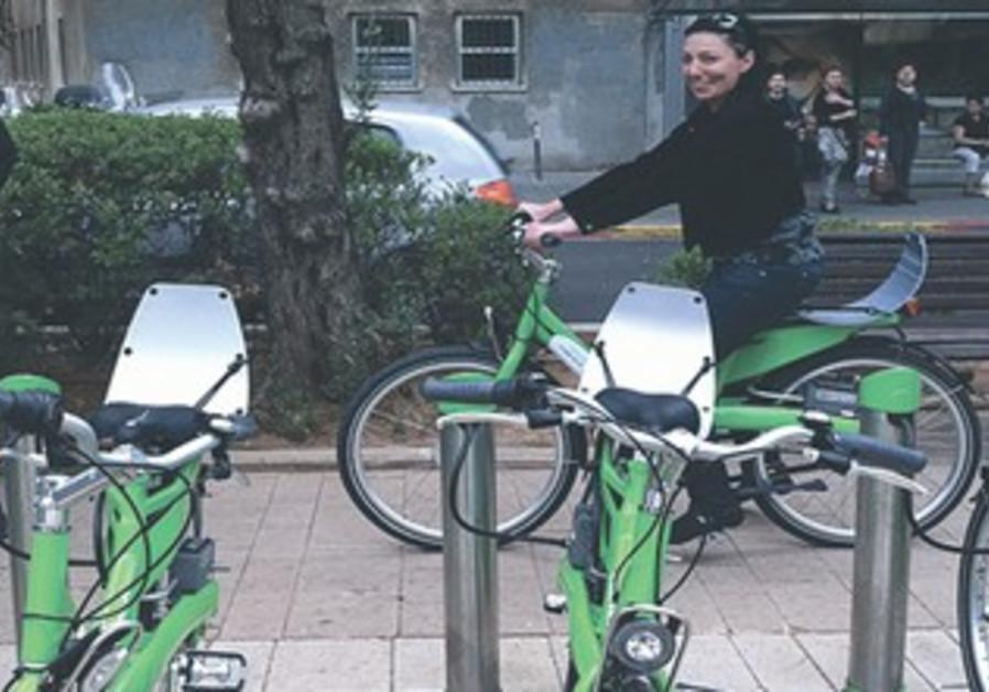 A TEL-O-FUN bike pickup and drop-off station in TA