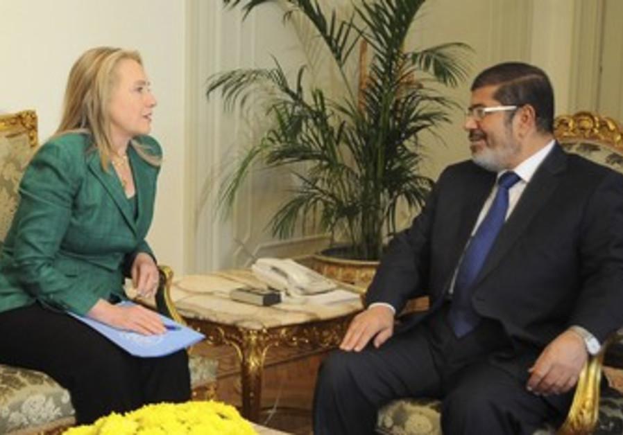 Clinton and Egypt's President Morsi