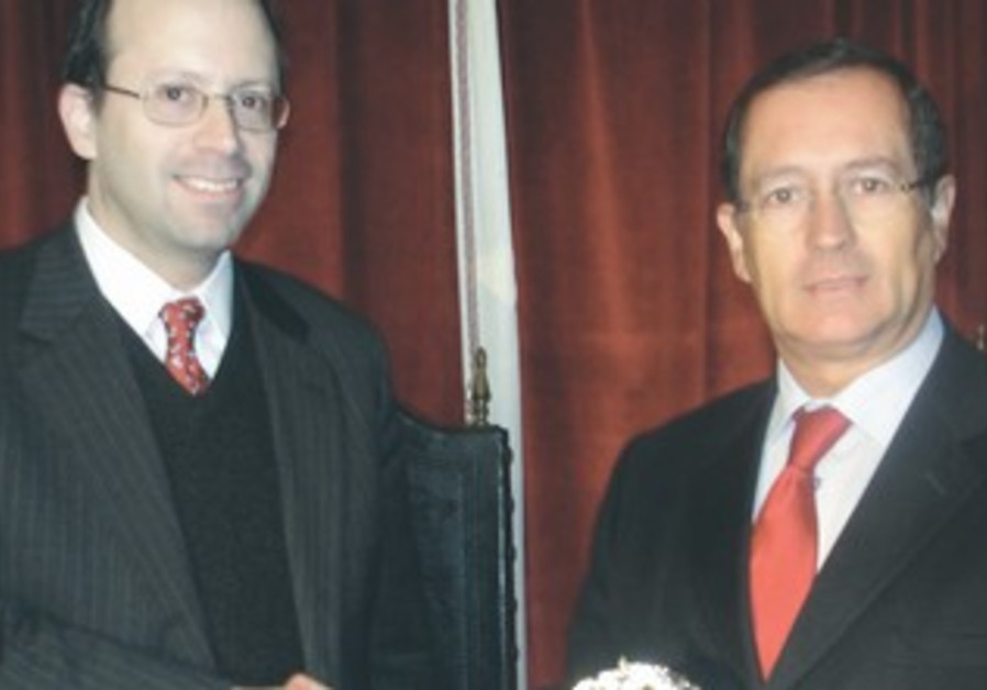 Michael Freund and Portugese mayor
