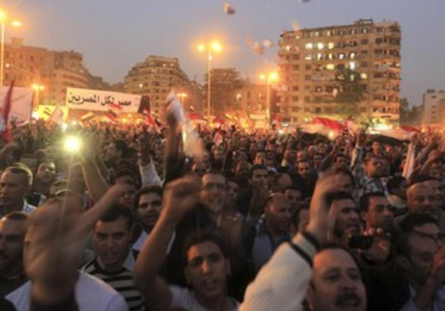 Anti Morsi protests in Tahrir Square Nov 27.