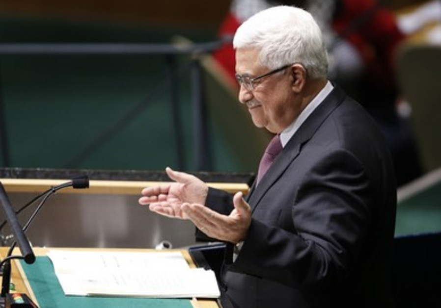 Abbas at UN Headquarters in New York