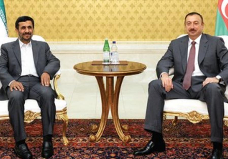 AZERBAIJAN'S PRESIDENT Ilham Aliyev, Ahmadinejad