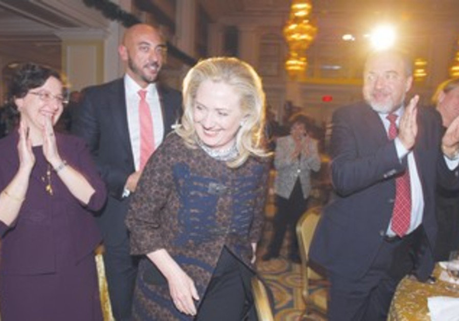 Clinton (middle), Liberman (right)