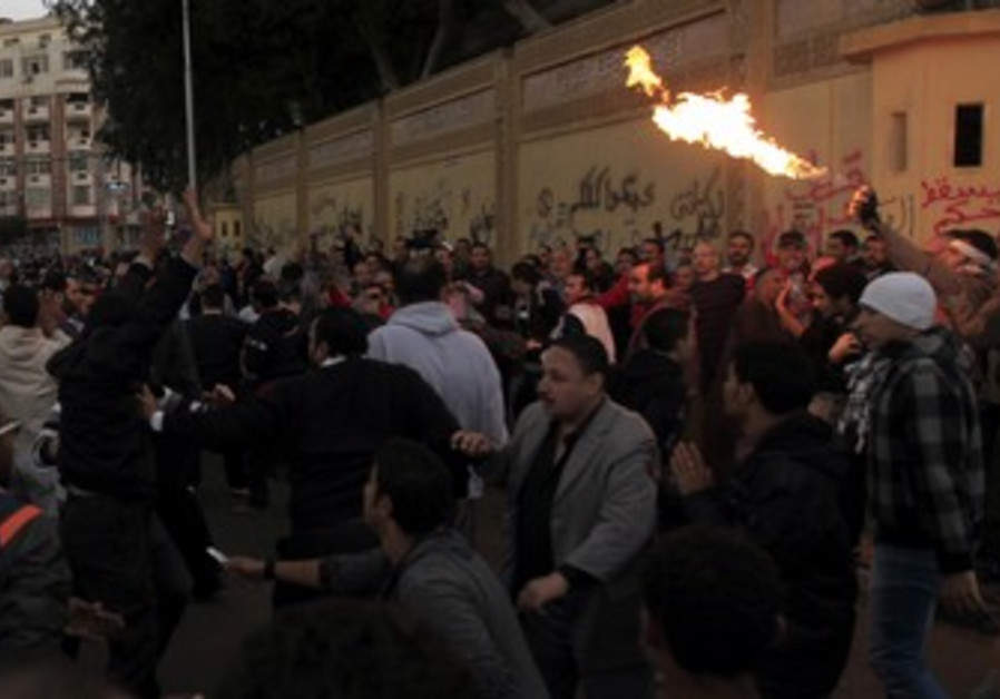 Protesters clash in Egypt.