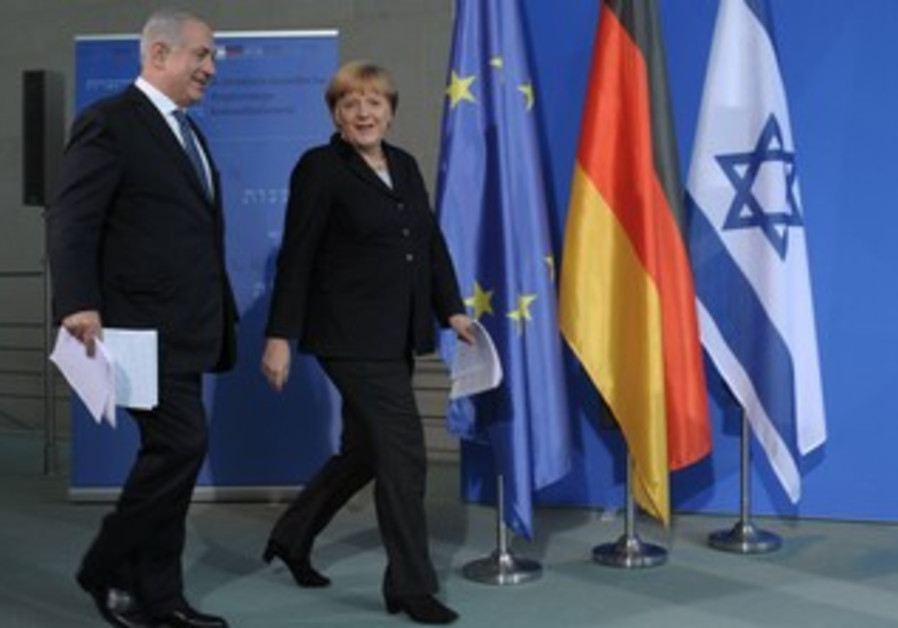 German Chancellor Merkel and PM Binyamin Netanyahu