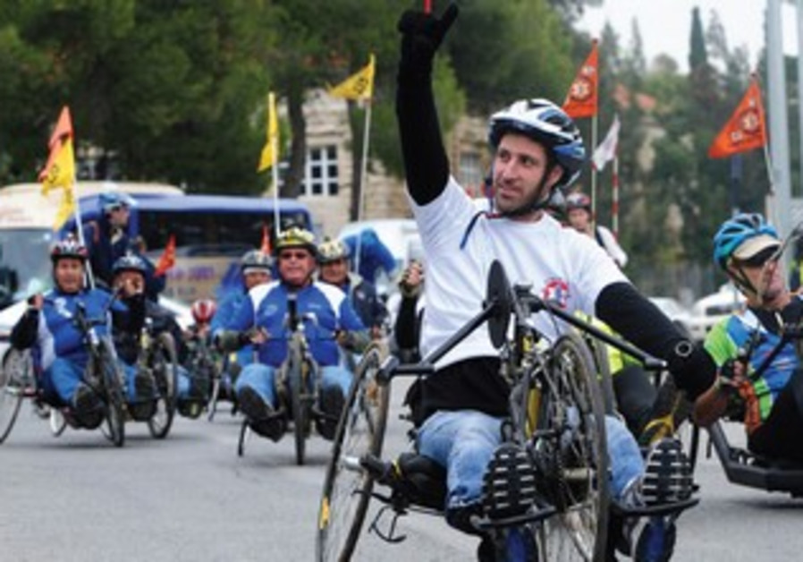 Handicapped IDF soldiers race