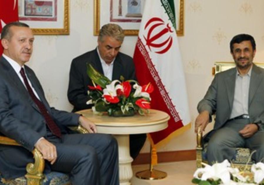 Ahmadinejad, Erdogan in Istanbul