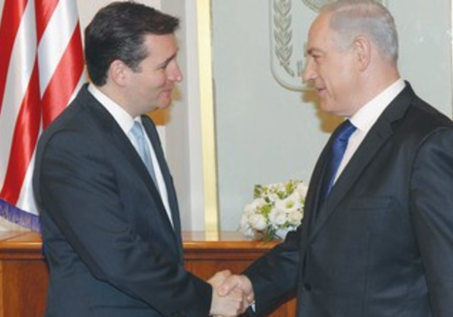 PM shakes hands with Republican senator-elect Cruz