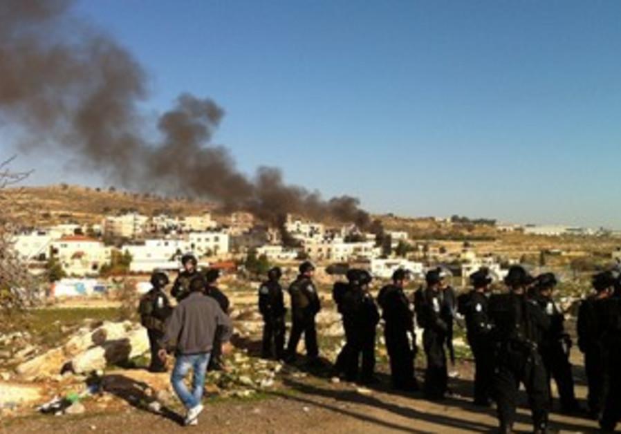 Fires in Beit Hanina