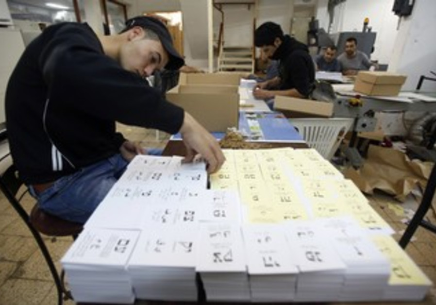 Ballots are printed ahead of elections