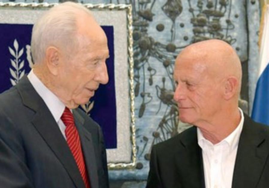President Peres with Akim Chairman Ami Ayalon
