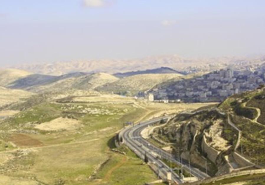 E1 hilltop taken from Hebrew U on Mt. Scopus