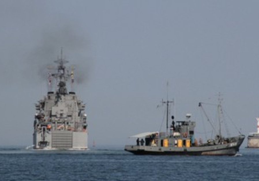 Russian landing ship leaves port of Sevastopol