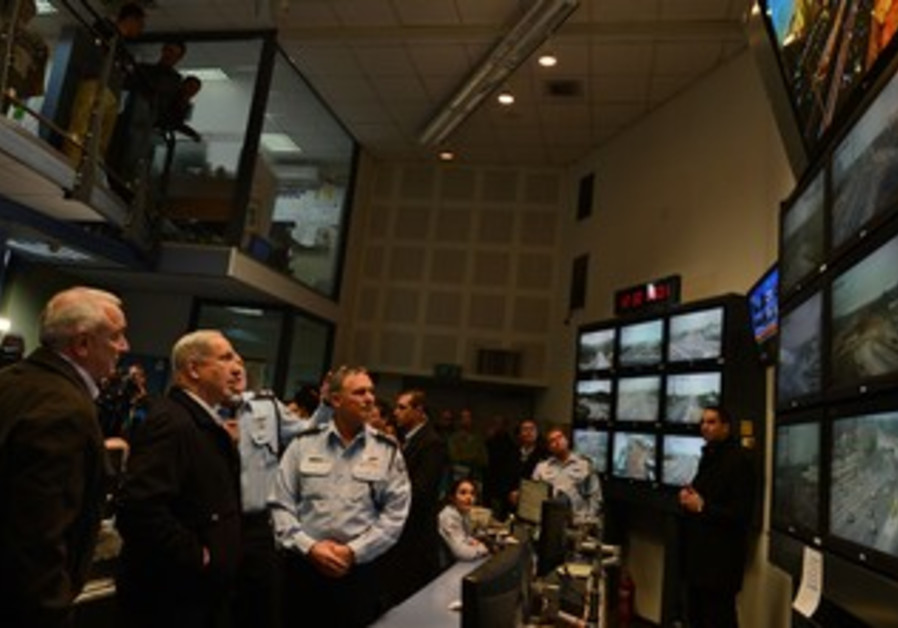 PM at the Police traffic control center on Jan. 9