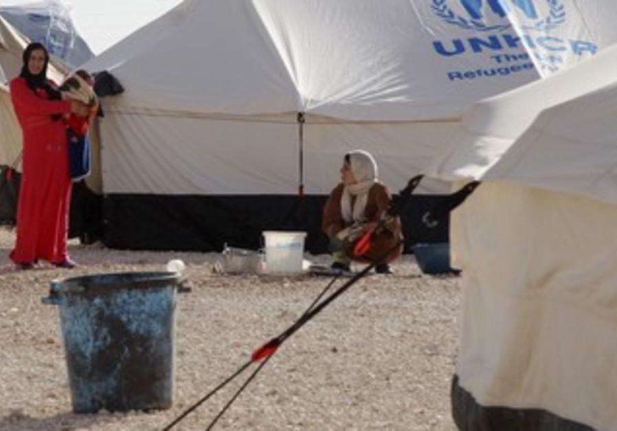 Syrian refugees at a camp in Jordan [illustrative]