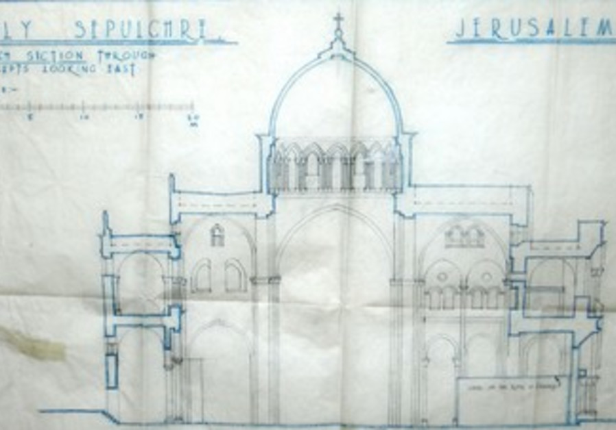 The original plan of the Holy Sepulcher Church
