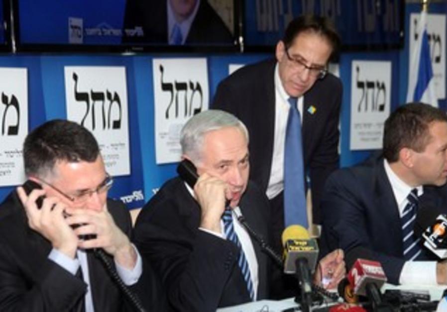 Netanyahu phones voters, January 17, 2013