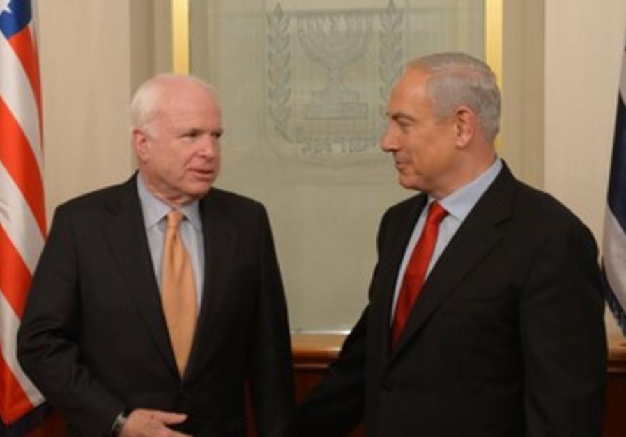 PM and Senator McCain in J'lem, January 2013
