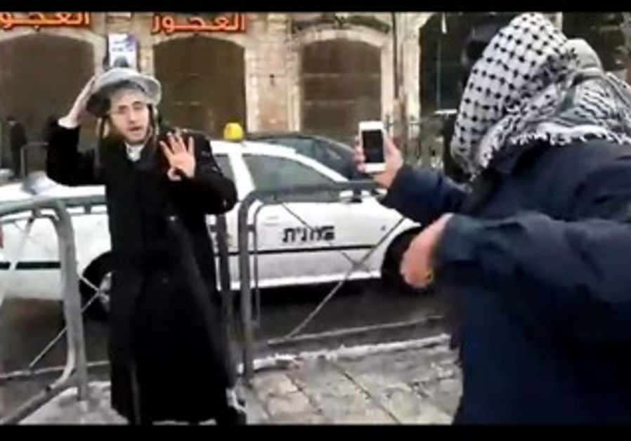 Youths attack Haredim, January 10th 2013.