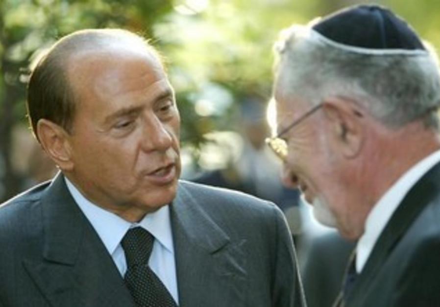 Silvio Berlusconi meets Amos Luzzatto, September 17, 2003