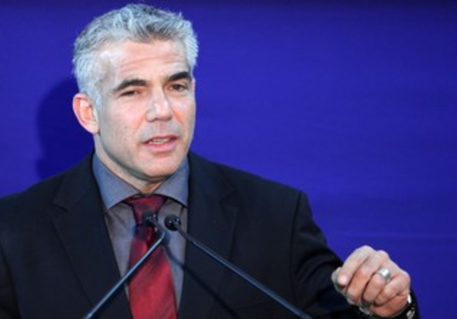 Yair Lapid at the President's residence, January 31, 2013.