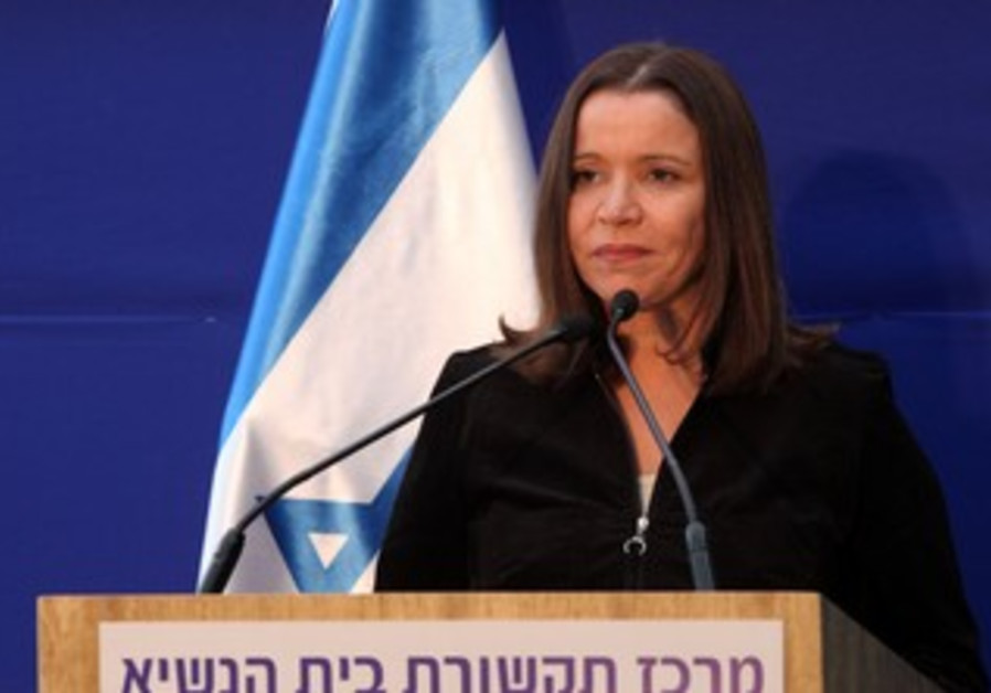 Shelly Yacimovich at the President's residence, January 31, 2013.