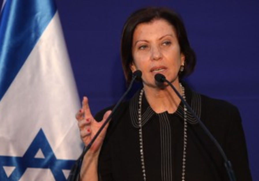 Zehava Gal-On at the President's residence, January 31, 2013.