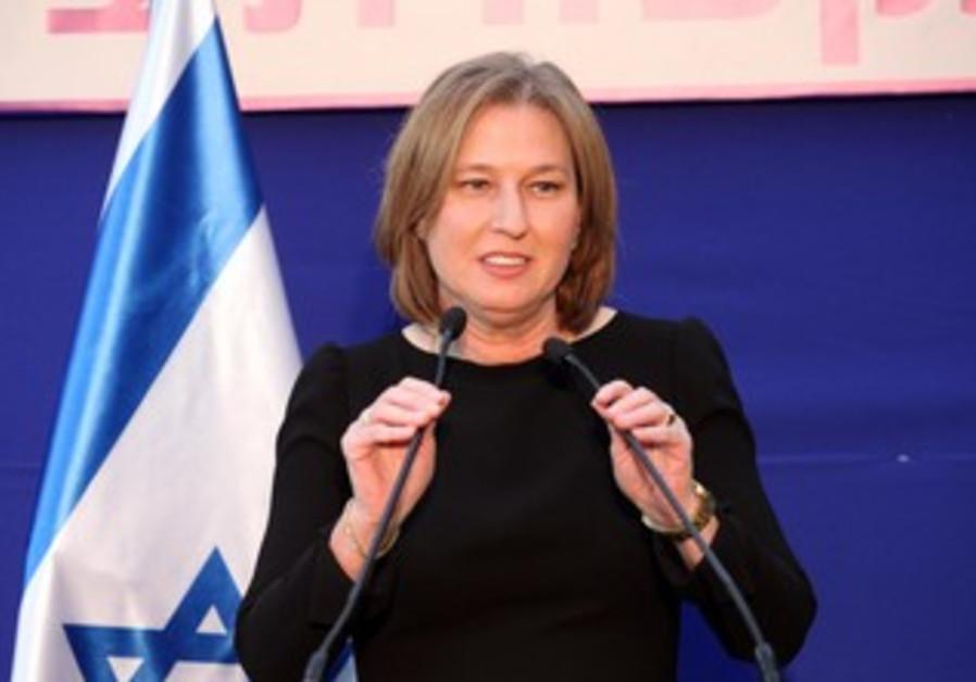 Tzipi Livni at the President's residence, January 31, 2013.
