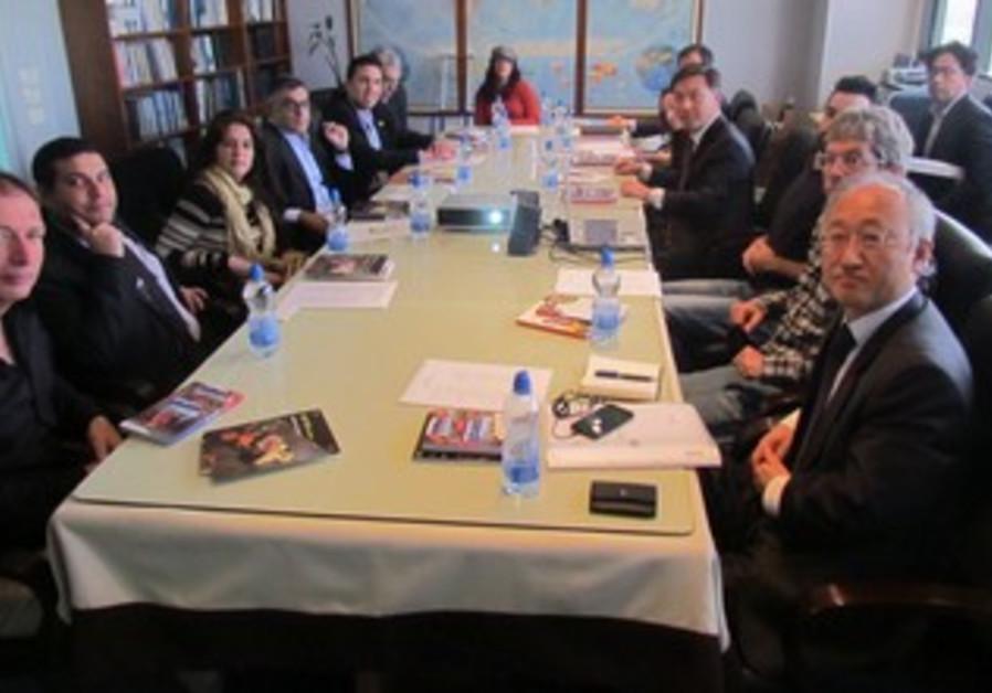 Korean delegation in Israel, February 2013.