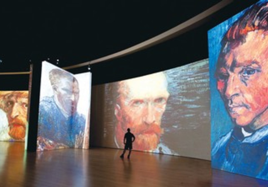 The 'Van Gogh Alive' exhibit includes thousands of 360- degree, lifelike images