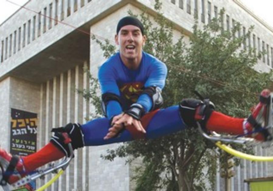 MAN dressed as Superman