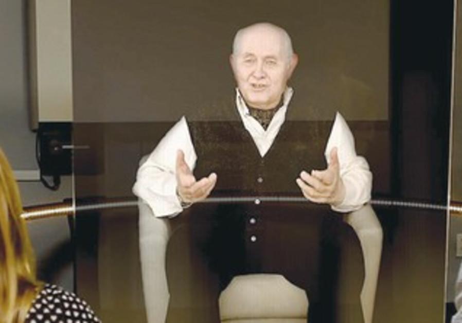 AN INTERACTIVE hologram of Holocaust survivor Pinchas Gutter