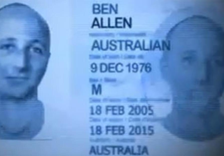 ABC mock up of Ben Zygier passport.