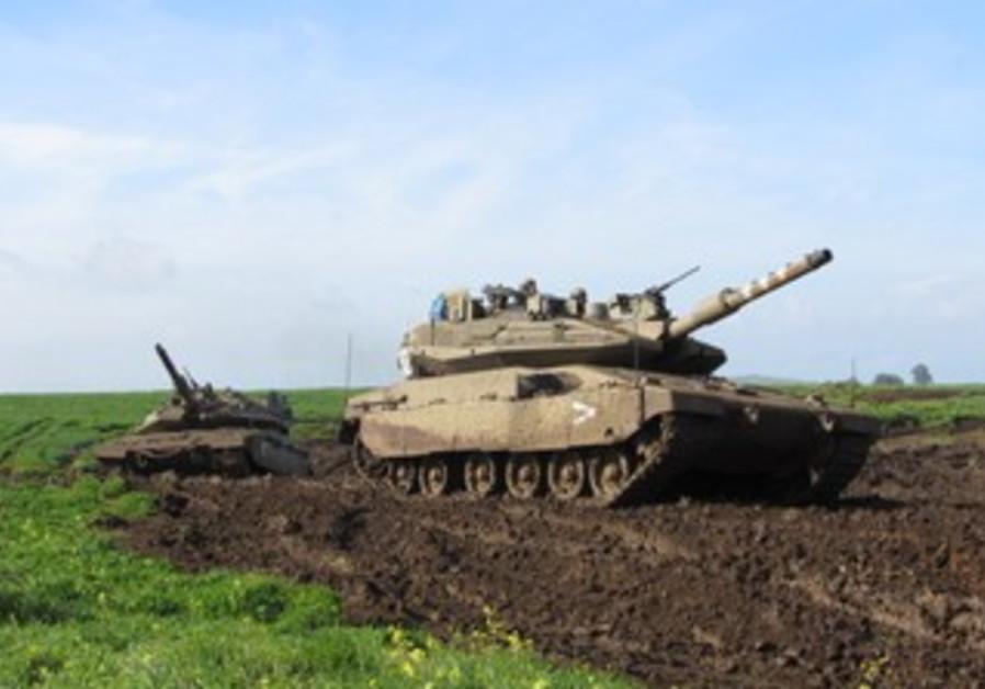 A tank battalion from the Armored Corps 401 Brigade held a war drill on the Golan Heights on Feb 20