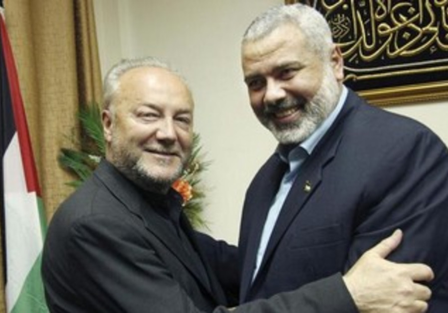 British MP George Galloway with Hamas PM Ismail Haniyeh, March 11, 2009.