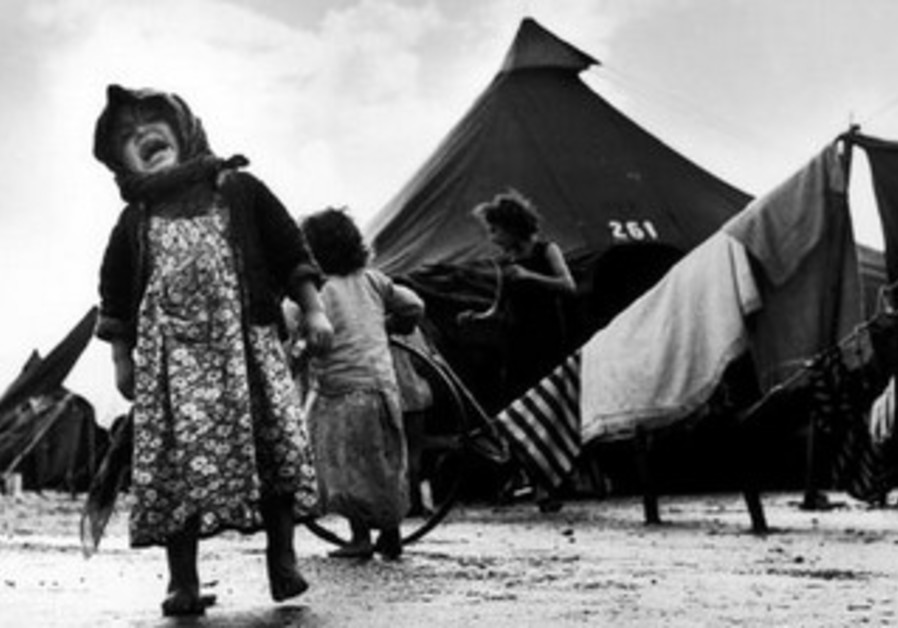 THE ARAB propaganda machine hijacked the evocative image, claiming it was a Palestinian refugee