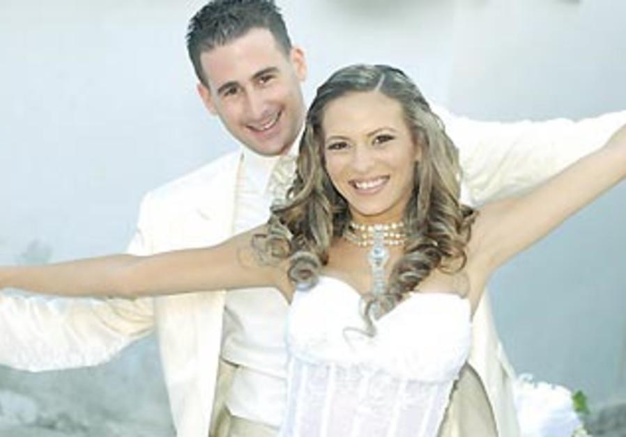 Yoni and Gila Sibony on their wedding day