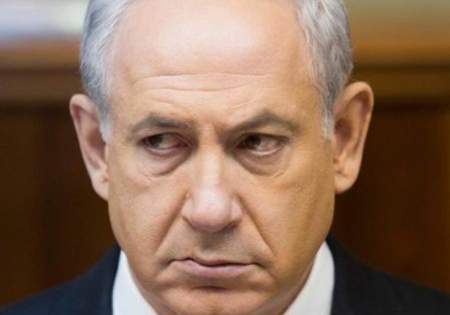Prime Minister Binyamin Netanyahu at cabinet meeting, March 3, 2013
