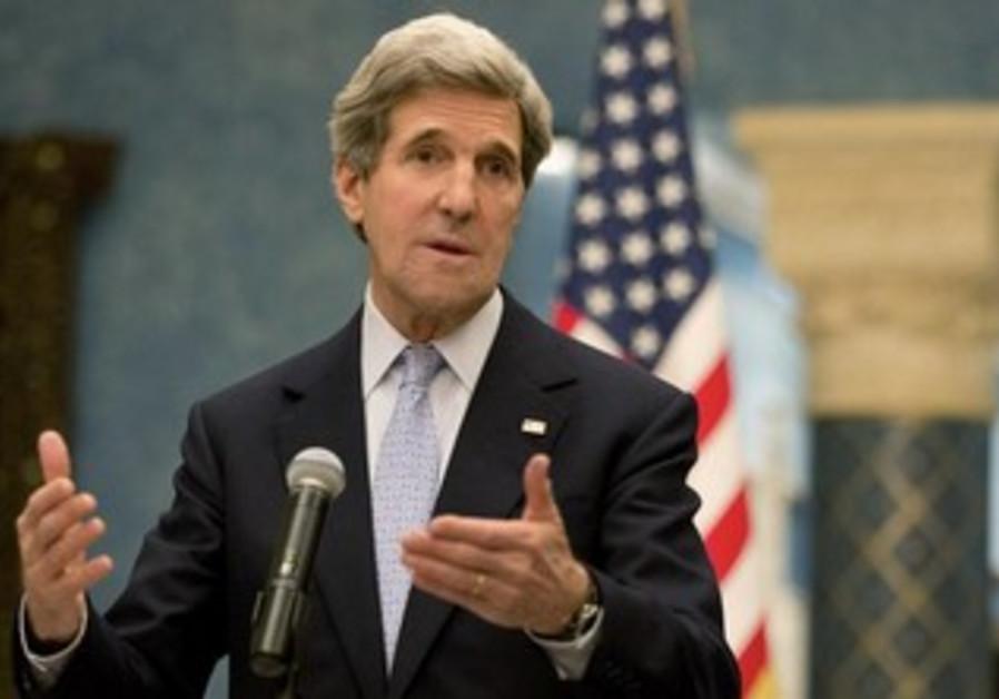 US Secretary of State John Kerry in Qatar, March 5, 2013.