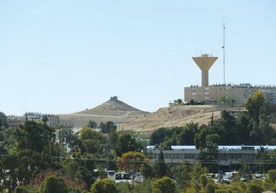 THE NEW visitors' center towers over the landscape in Mitzpe Ramon.
