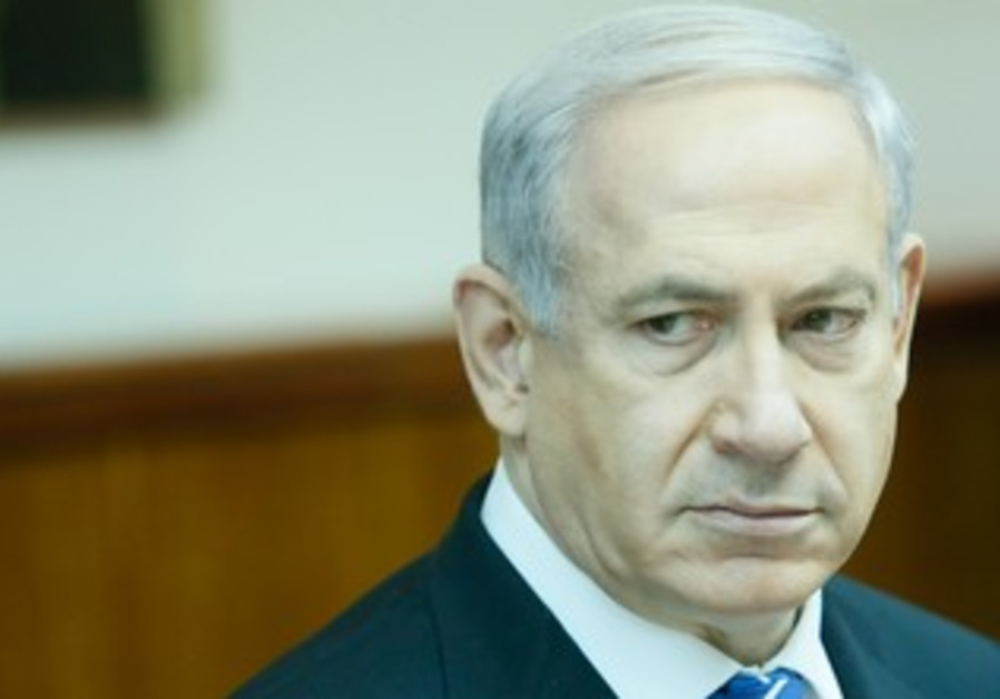 Prime Minister Binyamin Netanyahu at last cabinet meeting of current govenment, March 10, 2013.