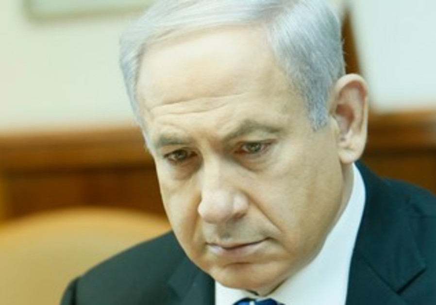 Prime Minister Binyamin Netanyahu at the weekly cabinet meeting, March 10, 2013.