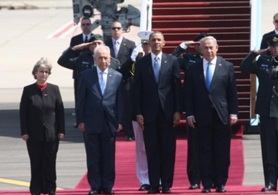 US President Barack Obama lands in Israel