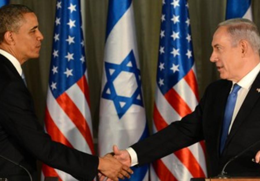 US President Obama and Prime Minister Binyamin Netanyahu, March 20, 2013.