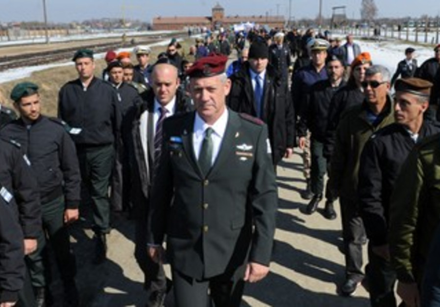 IDF Chief Gantz leads March of the Living Holocaust memorial at Auschwitz in Poland