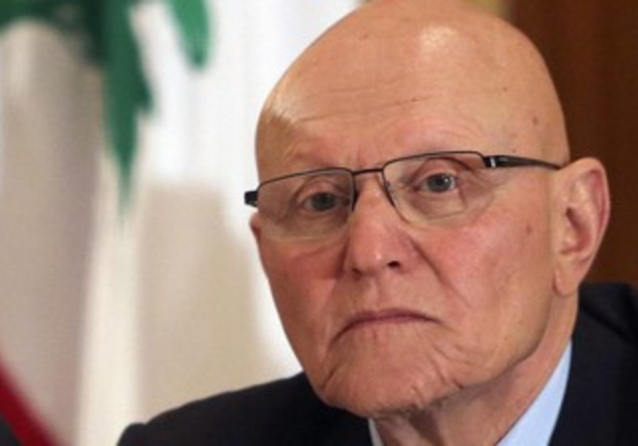 Tammam Salam attends a meeting for pro-Western March 14 political coalition in Beirut April 4, 2013