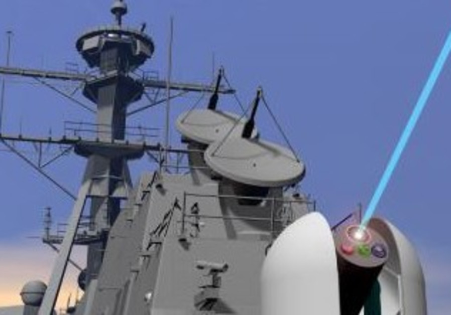 US laser weapon technology